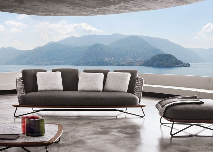 RIVERA Sofá 3 Lugares By Minotti Design Rodolfo Dordoni