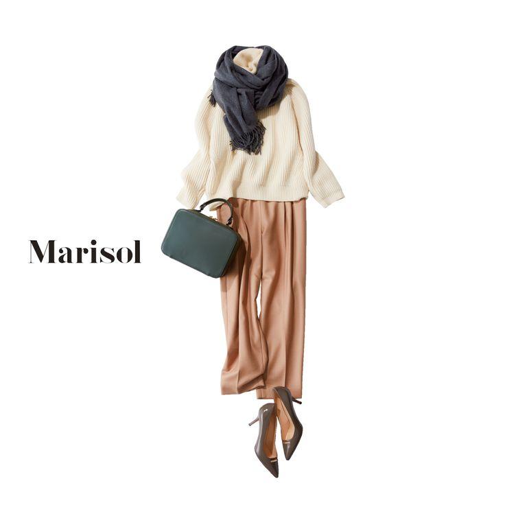 ブラックフライデーは気合を入れてストール巻いてネットショッピング【2017/11/24コーデ】Marisol ONLINE|女っぷり上々!40代をもっとキレイに。