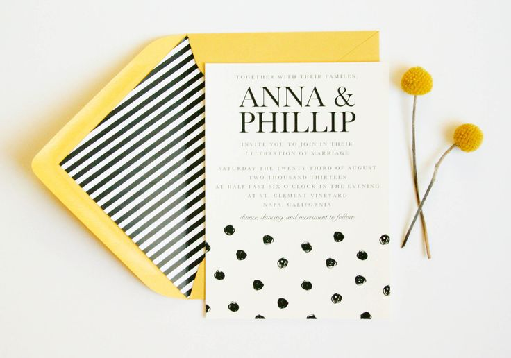 Follow my passion: Polka Dot Wedding Invitation // Wedding Announcement // Save the Date