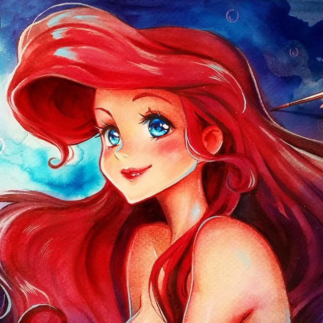 104 best images about drawings of famous cartoon people - Dessin anime princesse ariel ...