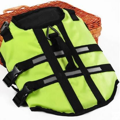 Free shipping Oxford Breathable Mesh Pet Dog Life Jacket Summer Dog Swimwear Puppy Life Vest Aquatic Safety Saver T067