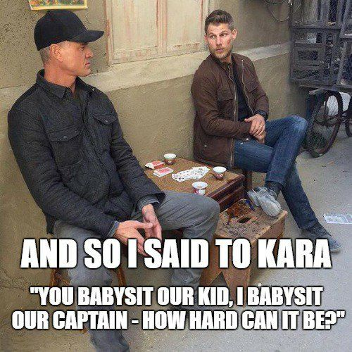 How hard could it be?   The Last Ship   Danny and Kara