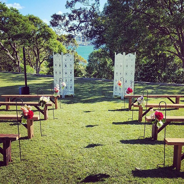Gorgeous and simple wedding ceremony set up.