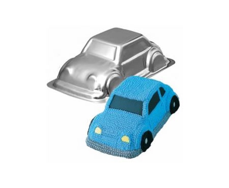 Great 3d Car Tin to make many different forms of cars. Think 18th birthday, police cars, wiggles cars and more!  Wilton ha
