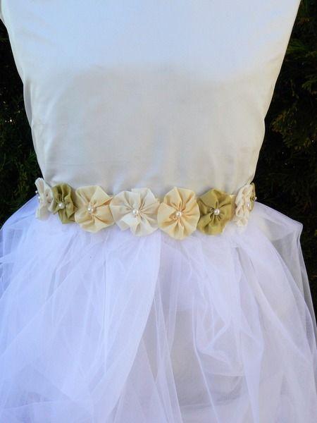 Pasek  do sukienki  spódniczki/Flowergirl belt w KKstyle na DaWanda.com