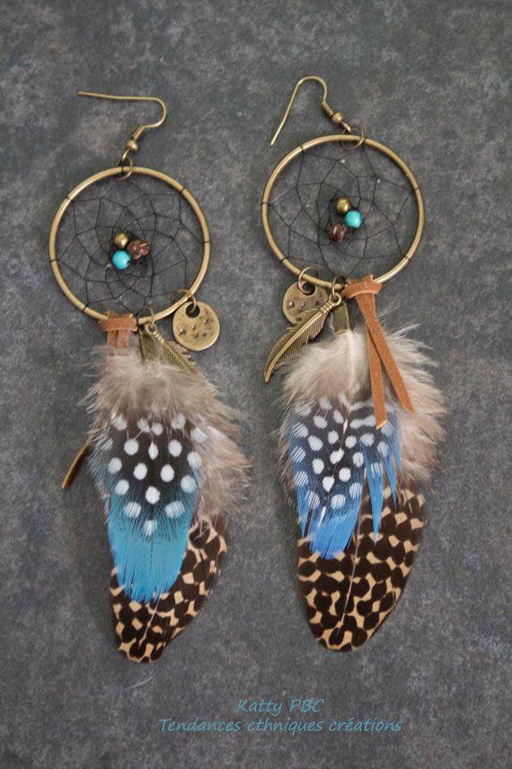 Dreamcatcher boucles d'oreilles amérindien  par Tendancesethniques