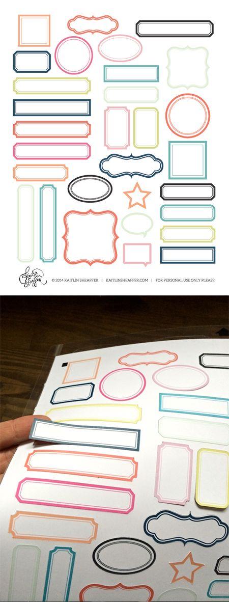 free label print & cut file | multicolor #Silhouette
