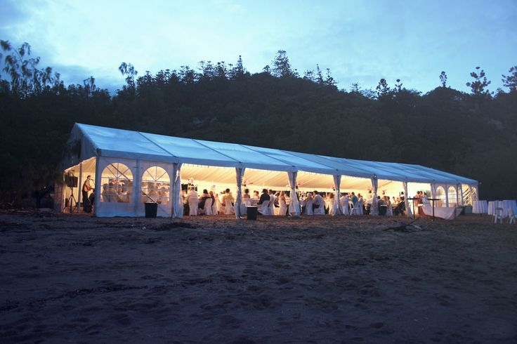 Marquee styled for beach wedding reception  http://www.edeevents.com.au/marquees