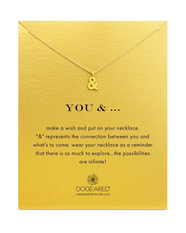 """Dogeared You & ... Necklace, 18"""""""