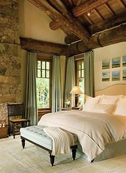 Rustic, romantic, bedroom