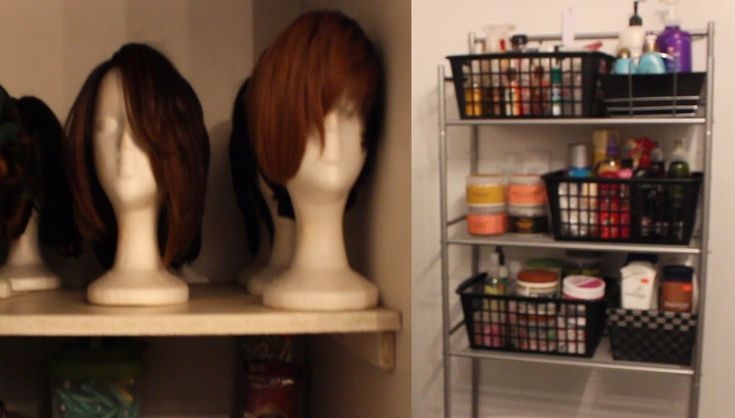 hair products storage | Storage Tour| Wigs, Hair Products, etc.... - YouTube