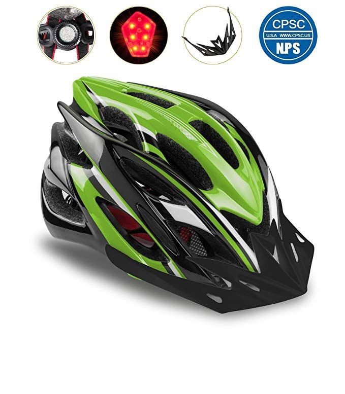 Shinmax Bike Helmet Cpsc Certified Adjustable Light Bike Helmet