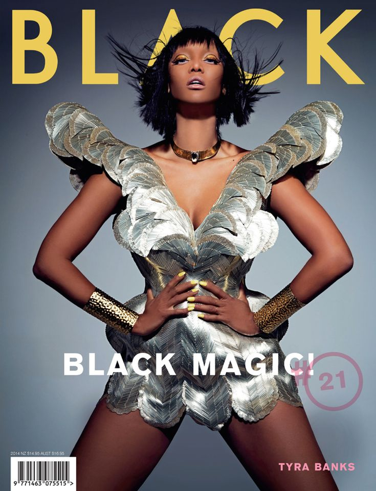Tyra Banks photographed by Thom Kerr for the Black Magic issue of Black magazine,
