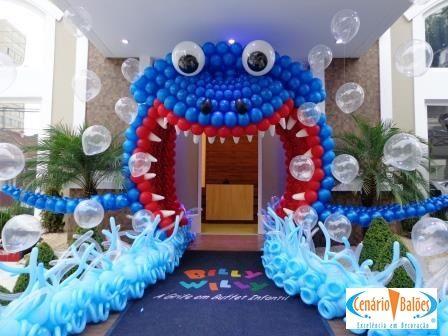 Fotos - Fundo do Mar- Cenário Balões - Excelência em Decoração