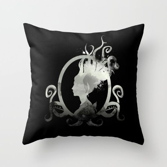 Lady Lovecraft Throw Pillow