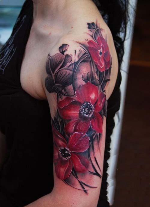 Tattoos on upper arm for girls the for Upper arm tattoos for girls