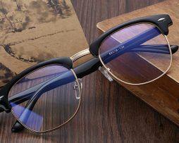 Luxusné okuliare s matným rámom pre prácu s počítačom,