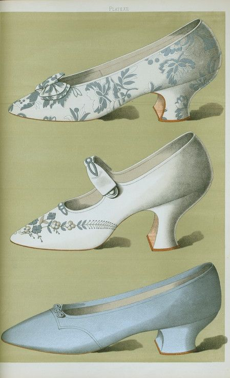 """These shoes are from the 1700's but actually they look like something you could buy now! (Shoe fashion for """"les Princesses""""  La mode 1700's)"""