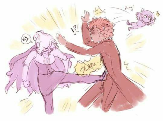 "RWBY- Glynda kicking Adam basically in the crotch. Lmao can you just imagine. ""This is for Yang!!"""