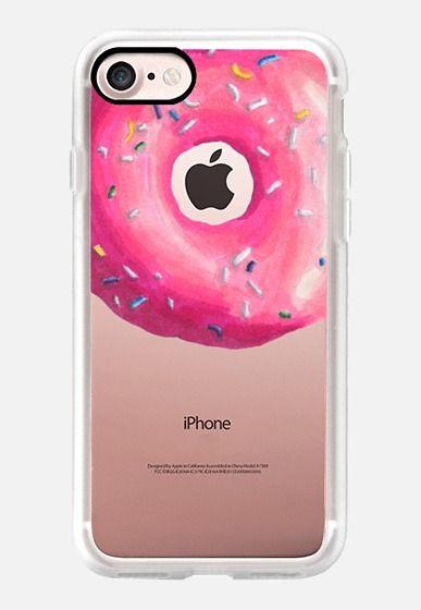 Casetify iPhone 7 Classic Grip Case - Pink Glaze Donut by Sara Eshak #Casetify