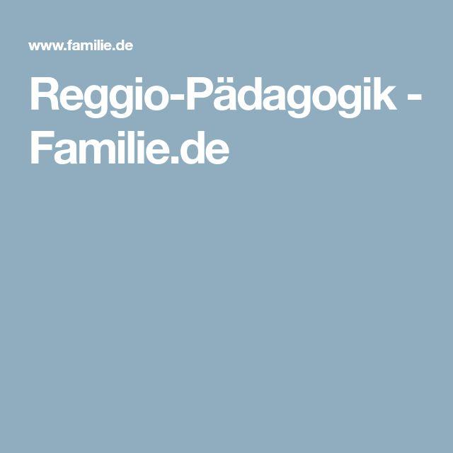 Reggio-Pädagogik - Familie.de