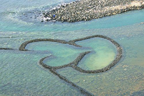 Heart Shaped Fishing Weir, Qimei, Taiwan