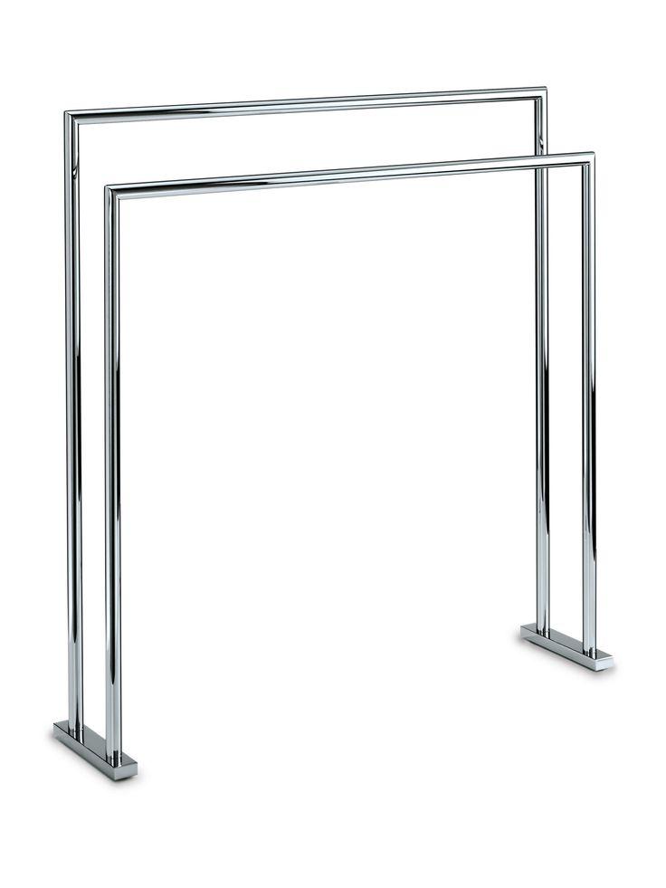 Walther Freestanding Towel Bathroom Rack Stand Bar 27.5-inch Towel Holder. Chrome
