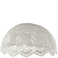 Crochet Cloche Ceiling Lampshade - Ivory