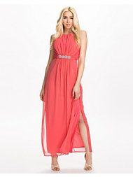 Koraal jurk