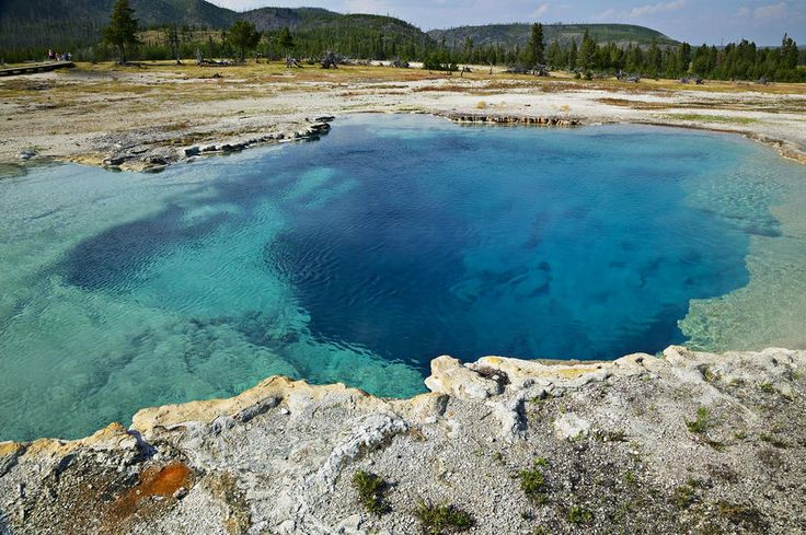 Blue hot springs Yellowstone National Park - fine art print by Garry Gay