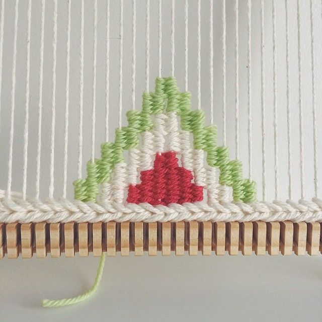Giving triangles a try! | Hand-woven tapestries by Melissa Washin
