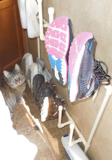 RV MODIFICATIONS -- shoe rack
