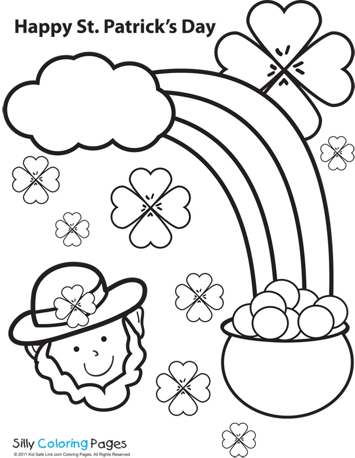 kid safe link st patrick s day coloring page St patricks