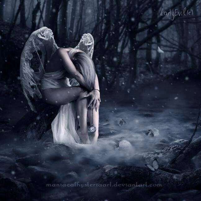 62 best broken angel images on pinterest fallen angels dark angels and fairies - Sad angel wallpaper ...