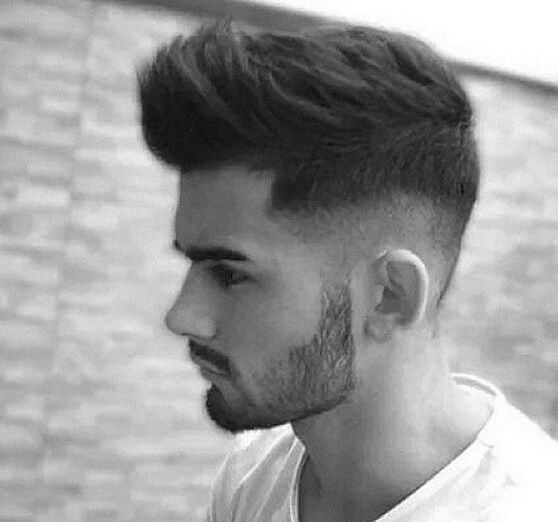 But with not sooo much of a fade so you have hair, rather than a buzz, on the side and back