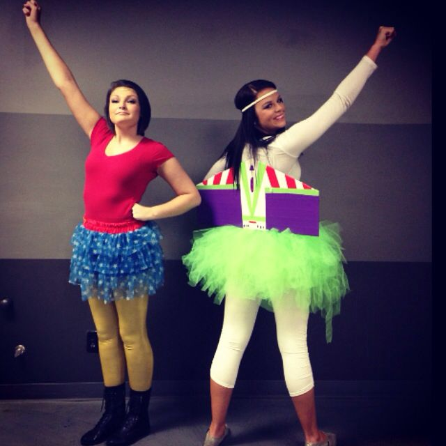 Buzz Light Year And Wonder Woman Halloween Costumes  Costumes-7132