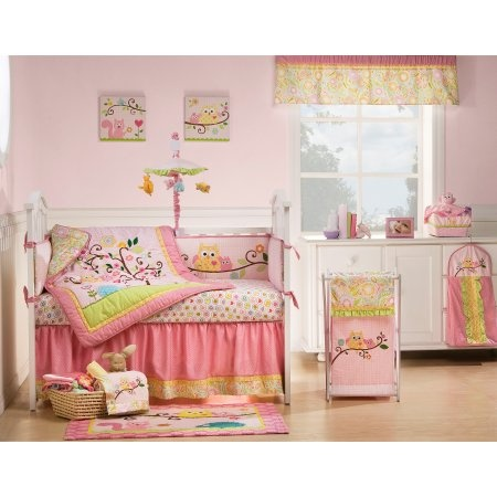 Loving this owl bedding set avail at babies r usHappy Trees, Animal Baby, Crib Bedding Sets, Dena Happy, Baby Girls, Cribs Beds Sets, Piece Baby, Girls Nurseries, Baby Cribs Beds