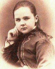 Emma op 12-jarige leeftijd in 1870