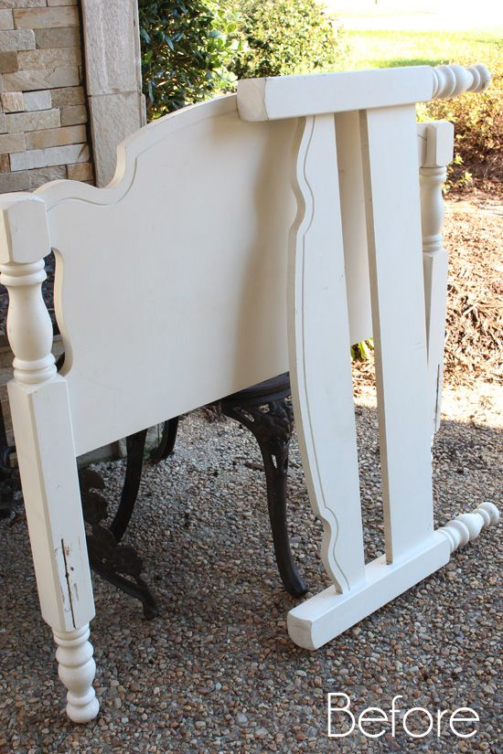 Farmhouse Headboard Bench | Confessions of a Serial Do-it-Yourselfer