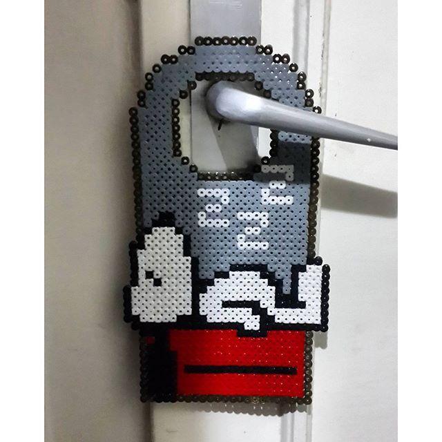 Snoopy door hanger hama beads by nazlibusraozkan