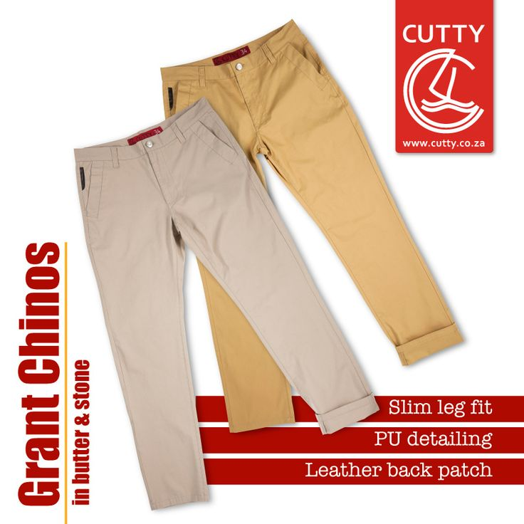 This season the silhouette's getting a little slimmer. Get ready to rock spring with a dash'o style in Cutty's Grant Chinos. Made from a comfortable cotton fabrication, these slim fit leg bottoms bring the heat with PU trim on the money pocket, branded buttons and an on-trend leather back patch.