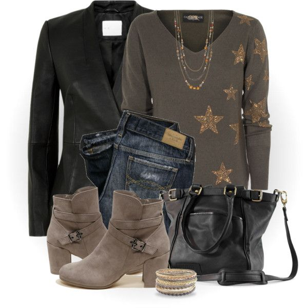 Star Sequin Sweater by snickersmother on Polyvore featuring Reiss, Hollister Co., Roque Bags, Kendra Scott, Simply Vera and F