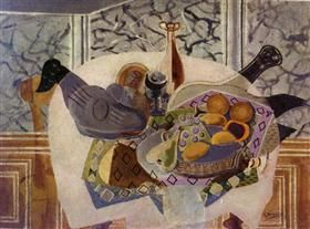 The Purple Tablecloth - Georges Braque