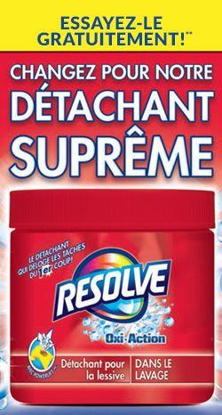 Remboursement d'achat – détachant Resolve. Fin le 24 septembre.  http://rienquedugratuit.ca/echantillon-gratuit/detachant-resolve-2/