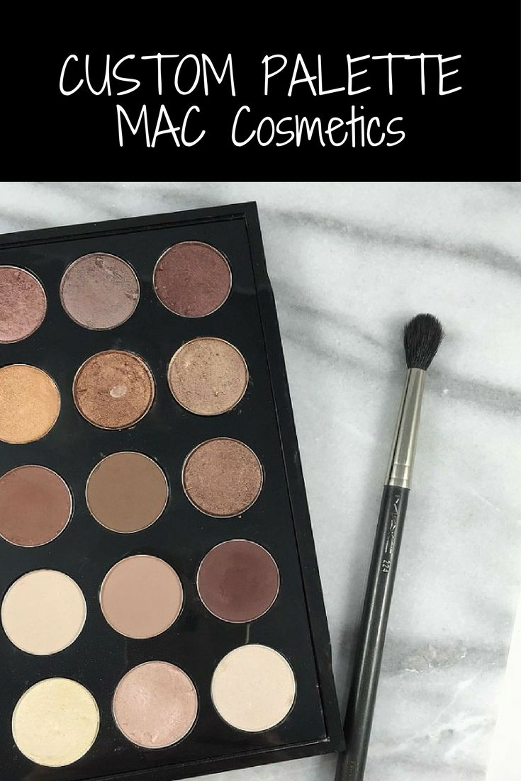 My Custom MAC Cosmetics Eyeshadow Palette