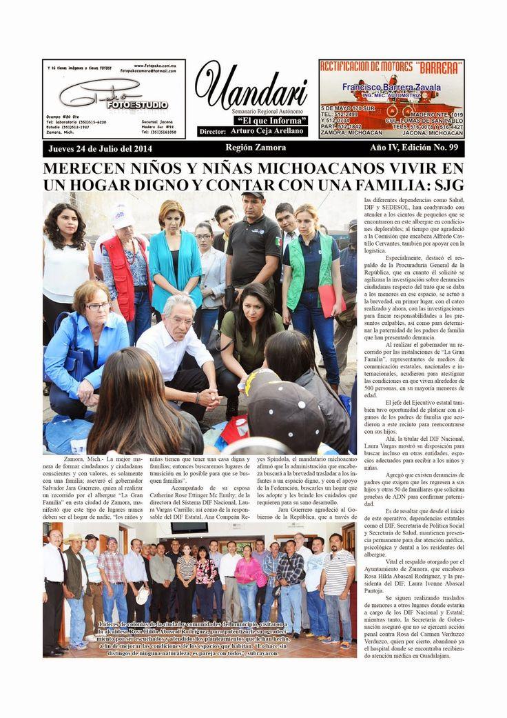 Tenepal de CACCINI: 4702. SEMANARIO UANDARI, EDICIÓN N° 99, DE ZAMORA,...
