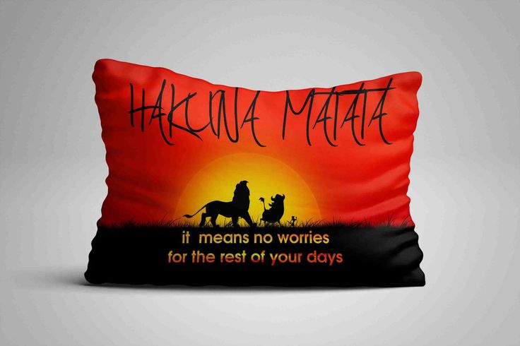 """Hot Hakuna Matata Sunset Quote Custom Pillow Case 16""""x24"""" Limited Edition #Unbranded #pillowcase #pillowcover #cushioncase #cushioncover #best #new #trending #rare #hot #cheap #bestselling #bestquality #home #decor #bed #bedding #polyester #fashion #style #elegant #awesome #luxury  #hakura #disney #sunset #quote"""