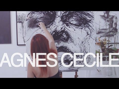 drip painting portrait - waiting - YouTube agnescecile