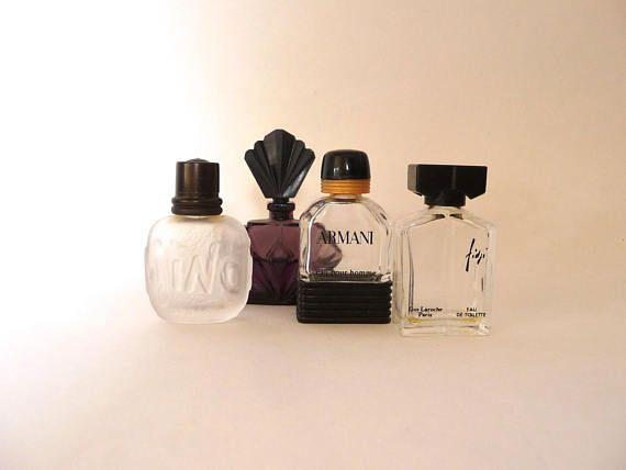 Vintage Miniature Perfume Bottles Passion Armani Fidji