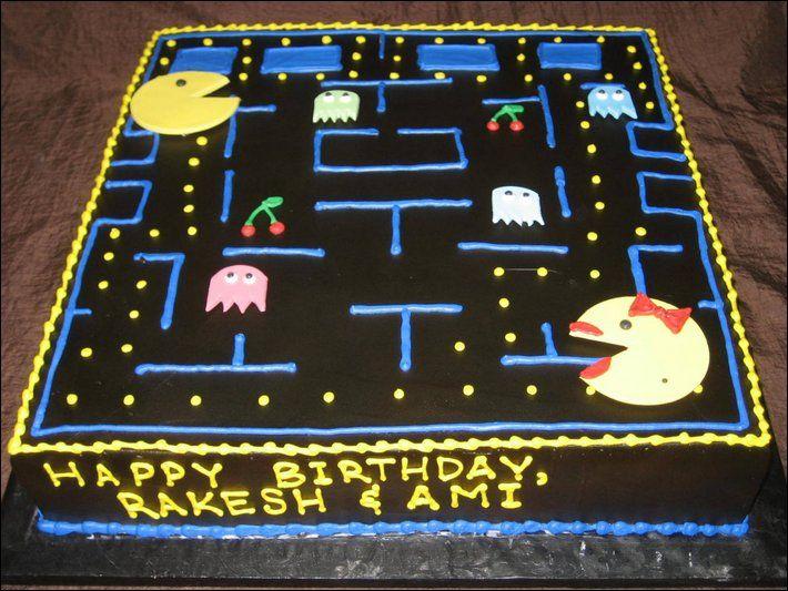 Un magnifique gâteau Pac-man. #gâteau #geek #pacman #patisserie